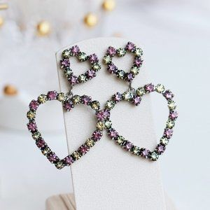 Anthropologie Dannijo Regina Crystal Heart Earring